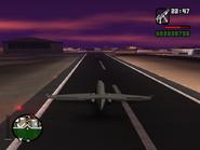 Freefall Jet estacionandose