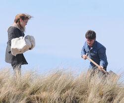 Harry digs Dobby grave.jpg