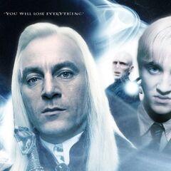 Poster de Lucius, Draco y Voldemort