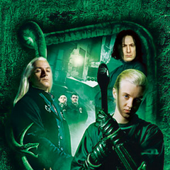 Draco, Lucius, Snape, Crabbe, Goyle