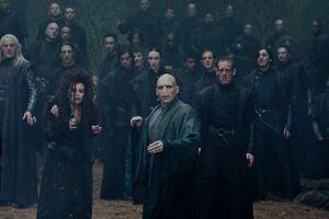 P7 Mortífagos con Voldemort durante la batalla.jpg
