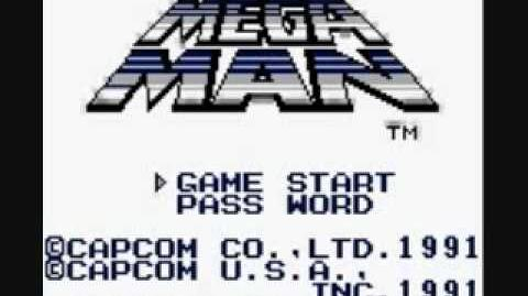 Mega Man Dr. Wily's Revenge Title Screen and Stage Select