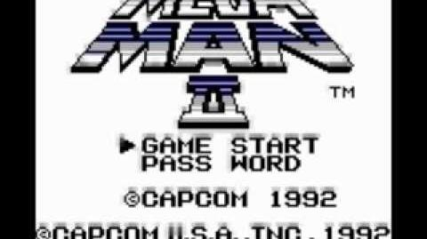 Gameboy Mega Man 2 Title Screen