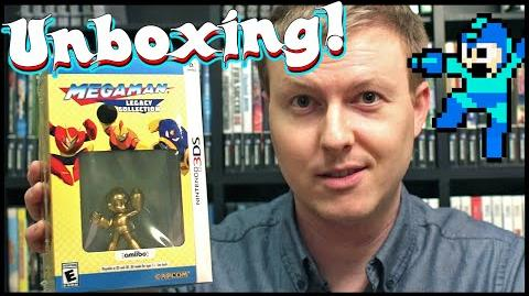 Mega Man Legacy Collection 3DS Collector's Edition UNBOXING! Gold Mega Man amiibo