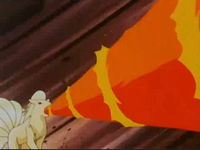 EP058 Ninetales de blaine usando giro fuego