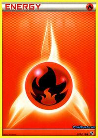 Carta de la energía fuego