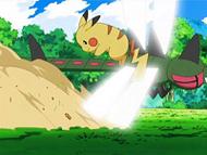 EP588 Pikachu esquivando