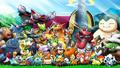 Ash Ketchum junto a sus Pokémon.