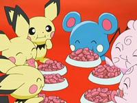 EP553 Pokémon comiendo