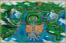 Ilustración de Teselia en Pokémon Negro 2 y Pokémon Blanco 2