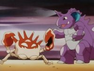 EP063 Kingler luchando con Nidoking