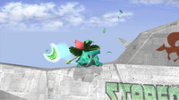 Ivysaur usando hoja afilada SSBB
