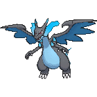 Imagen de Mega-Charizard X en Pokémon X y Pokémon Y