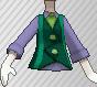 Chaleco con corbata verde.png