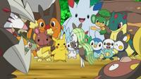 EP748 Meloetta conociendo a los Pokémon