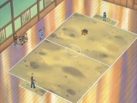 Campo de batalla del Gimnasio de Petalia en el anime