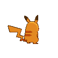 Imagen posterior de Pikachu variocolor macho en la sexta generación