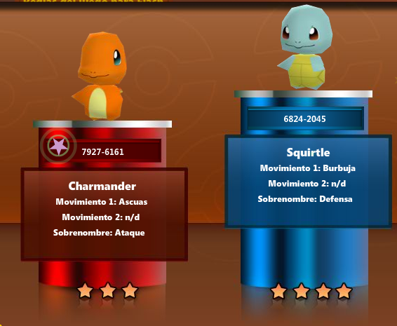 Archivo:Charmander y Squirtle en Pokémon Rumble.png