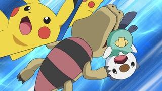 Archivo:EP672 Sandile mordiendo a Pikachu y Oshawott.jpg