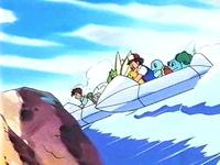 Campo de batalla del Gimnasio de Ombligo/Navel en el anime