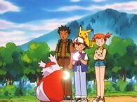 EP233 Delibird usando presente con Ash y sus amigos