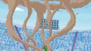EP655 Contradefensa de Gastrodon usando agua lodosa vista desde arriba.jpg