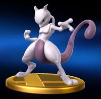 Trofeo de Mewtwo personaje SSB4 (Wii U)