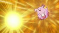 EE11 Chansey usando bomba huevo