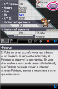 Pokérus en Pokémon Negro y Blanco