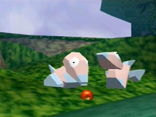 Porygon comiendo en Pokémon Snap.