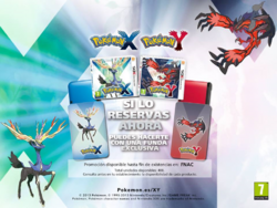 Funda de Nintendo 3DS al reservar Pokémon XY.png