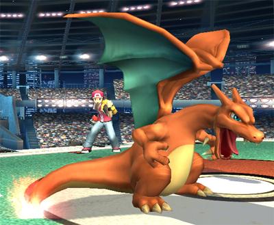 Archivo:Entrenador Pokémon y Charizard SSBB.jpg