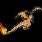 Imagen posterior de Mega-Charizard Y en la sexta generación