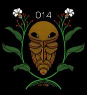 Diseño de Kakuna en Pokémon 151