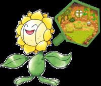Sunflora, una de las aprendices del Pokégremio de exploradores