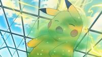 EP810 Pikachu casi dormido