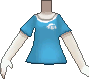 Camiseta de poké ball azul claro.png