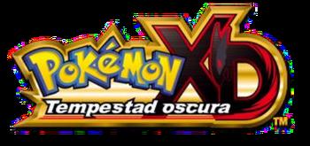 Logo español de Pokémon XD: Tempestad Oscura