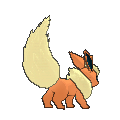 Imagen posterior de Flareon en la sexta generación