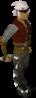 Un jugador con el látigo abisal blanco
