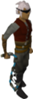 Un jugador con el látigo abisal azul