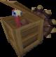 Pavo en una caja