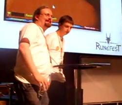 Paul Gower (left) with his brother Andrew Gower (right) at RuneFest