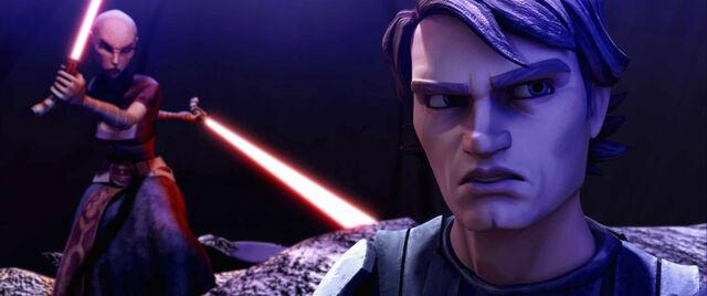 Archivo:Asajj vs Anakin Teth.jpg