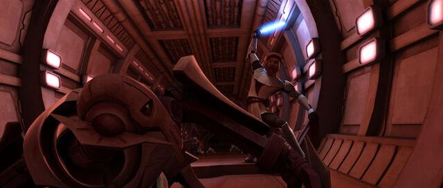Archivo:Grievous vs Kenobi Saleucami.jpg