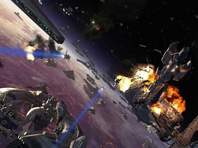 Archivo:Guerra en la orbita de coruscant.jpg