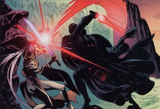 Archivo:Darth Vader vs Dama Oscura.JPG