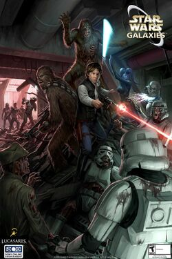 Death Troopers poster promocional para Star Wars Galaxies