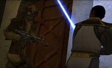 Chewie y Jaden (personalizado) enfrentandose a los mercenarios en Tatooine.jpg