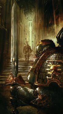 Guardianes de la Muerte Campeon de la Guardia Fortaleza de Vigilancia Erioch Ordo Xenos Wikihammer